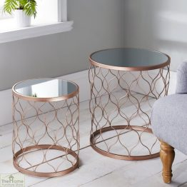 Mirrored Side Table Nest_1
