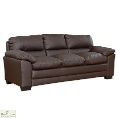 Toledo Leather 3 Seat Sofa Bed_2
