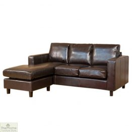 Venice Leather Reversible Chaise Sofa