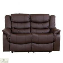 Livorno Leather 2 Seat Reclining Sofa