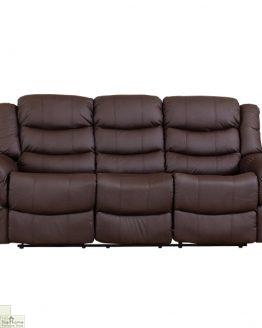 Livorno Leather 3 Seat Reclining Sofa_1
