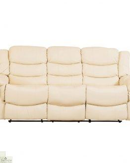 Livorno Leather 3 Seat Reclining Sofa