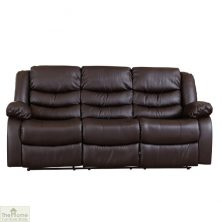 Verona Leather 3 Seat Reclining Sofa