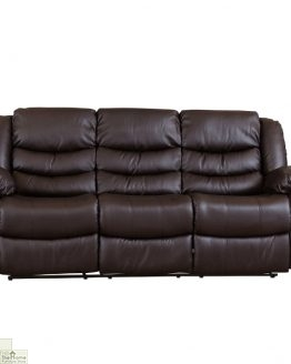 Verona Leather 3 Seat Reclining Sofa_1
