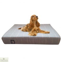 Gold Check Memory Foam Dog Bed_1