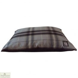 Black Check Dog Cushion Bed