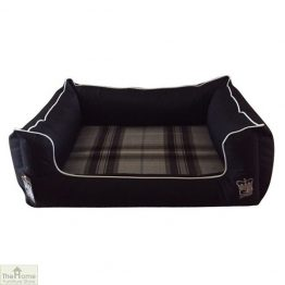Black Memory Foam Dog Settee Bed