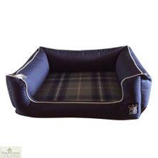 Navy Blue Memory Foam Dog Settee Bed