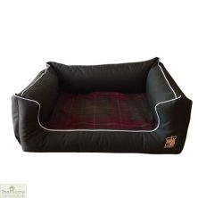 Green Memory Foam Dog Settee Bed