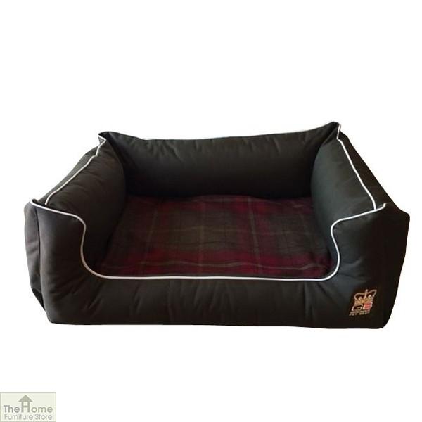 Green Memory Foam Dog Settee Bed