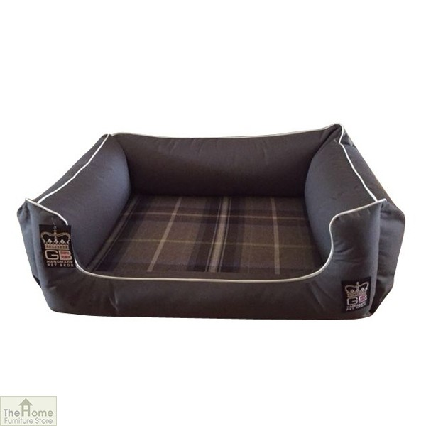 Grey Memory Foam Dog Settee Bed