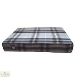 Black Check Memory Foam Dog Bed