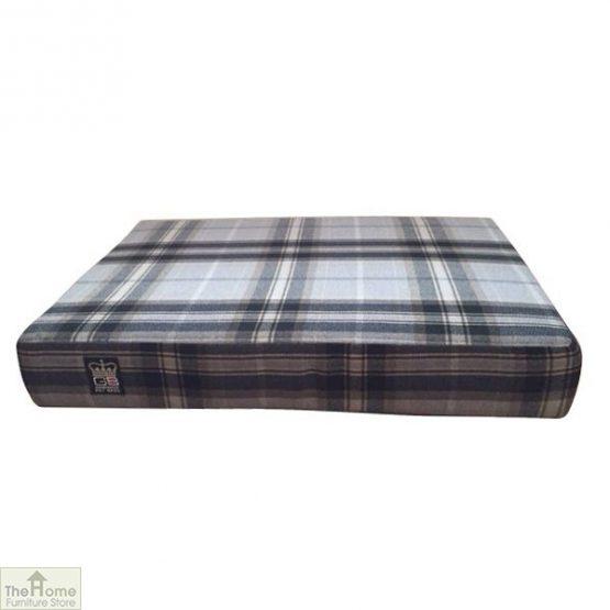 Black Check Memory Foam Dog Bed