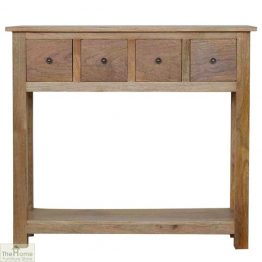 Country 4 Drawer Console Table