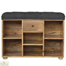 Multi Tweed 6 Shelf Shoe Bench
