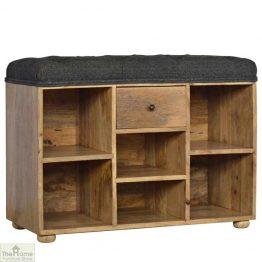 Tweed 6 Shelf Shoe Bench_1