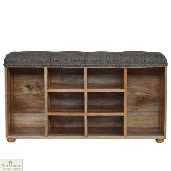 Tweed Wooden Shoe Bench