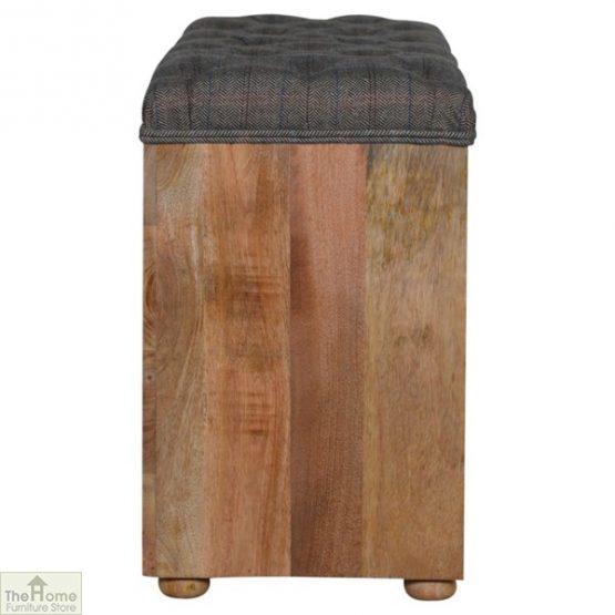 Tweed Wooden Shoe Bench_4