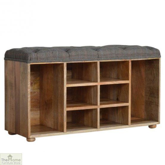 Tweed Wooden Shoe Bench_1