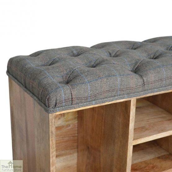 Tweed Wooden Shoe Bench_7