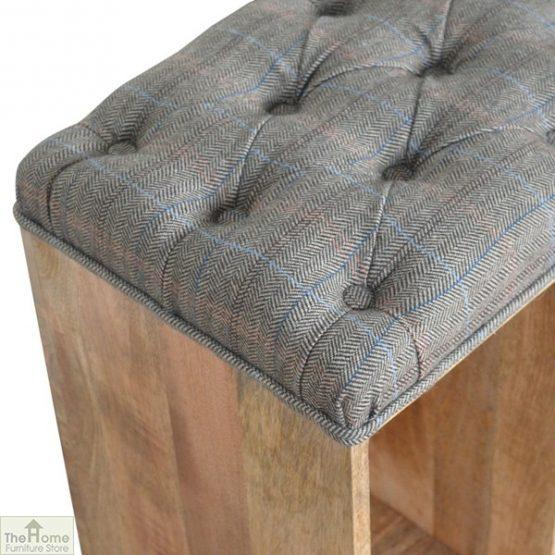 Tweed Wooden Shoe Bench_5