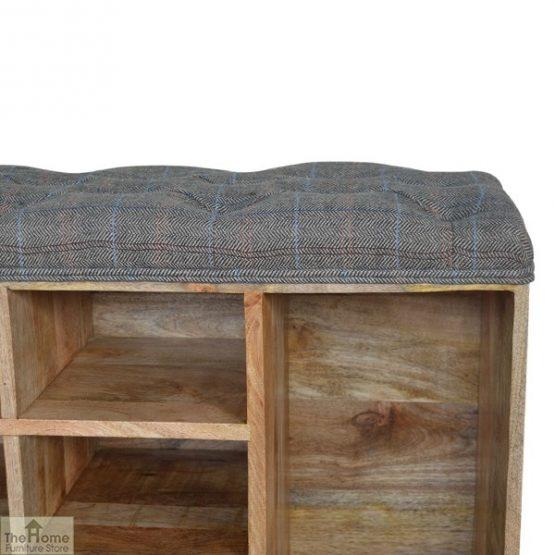 Tweed Wooden Shoe Bench_8