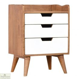 White 3 Drawer Bedside Unit_1