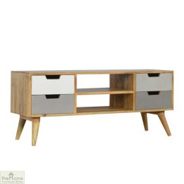 Grey 4 Drawer TV Unit_1