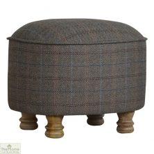 Multi Tweed Oval Footstool