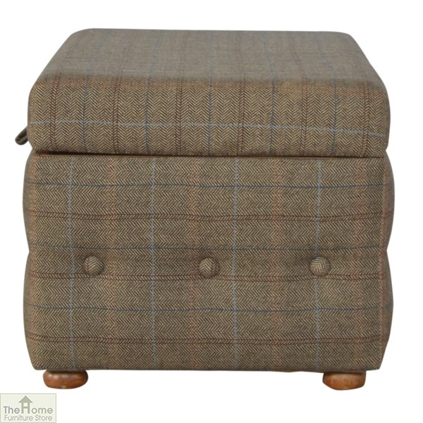 Wondrous Multi Tweed Storage Ottoman The Home Furniture Store Alphanode Cool Chair Designs And Ideas Alphanodeonline