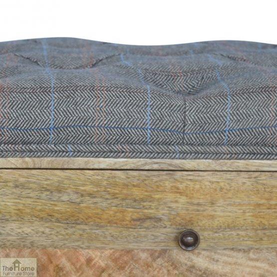 Tweed 1 Drawer Shoe Bench_6