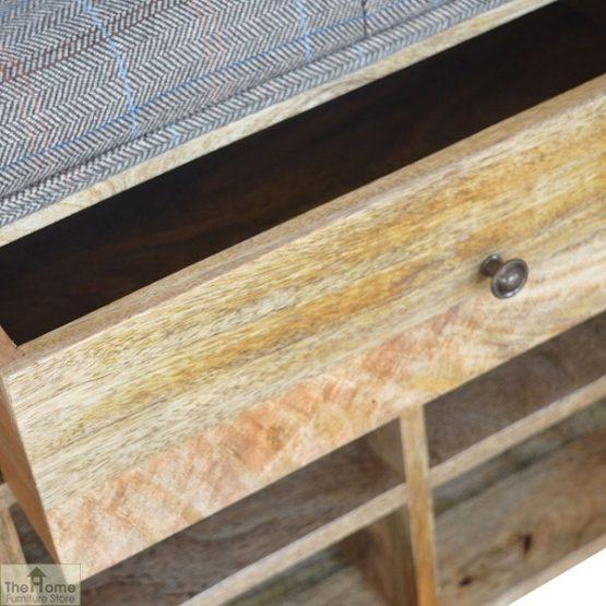 Tweed 1 Drawer Shoe Bench_5