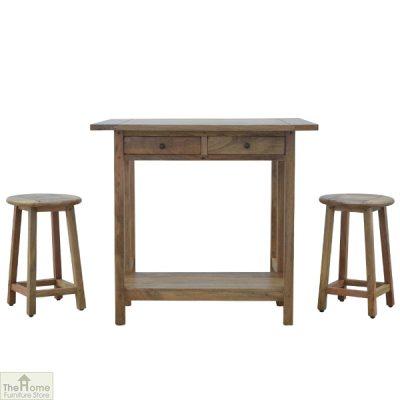 Wooden Breakfast Table Set_4