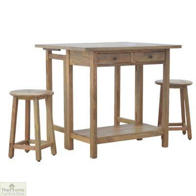 Wooden Breakfast Table Set_3