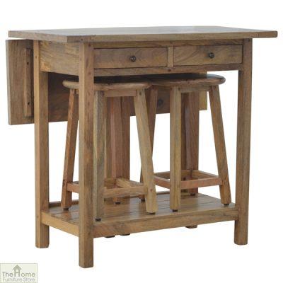 Wooden Breakfast Table Set_1