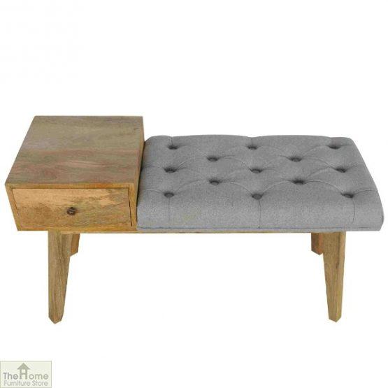 Grey Tweed 1 Drawer Bench_2