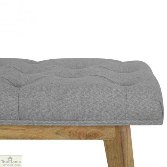 Grey Tweed 1 Drawer Bench_3
