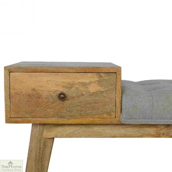 Grey Tweed 1 Drawer Bench_4