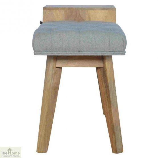 Grey Tweed 1 Drawer Bench_6
