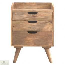Winchester Natural 3 Drawer Bedside Table