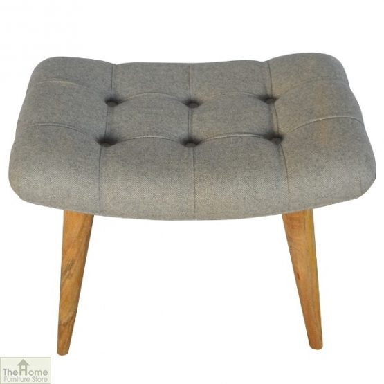Curved Grey Tweed Bench_3