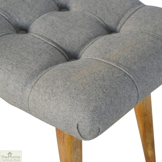 Curved Grey Tweed Bench_5