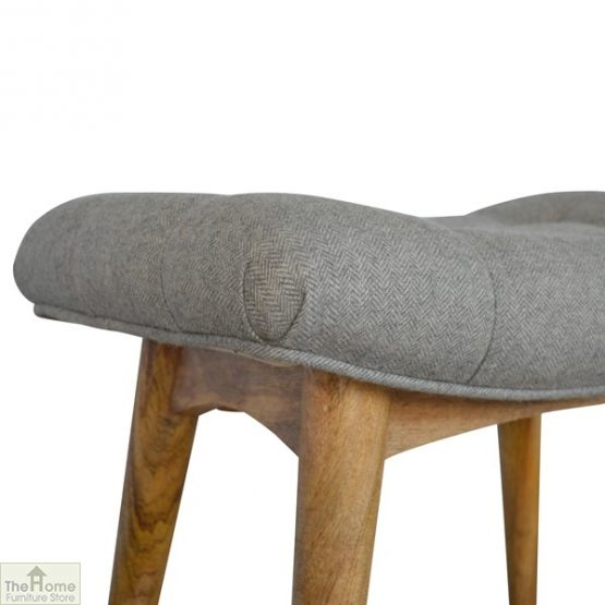 Curved Grey Tweed Bench_6