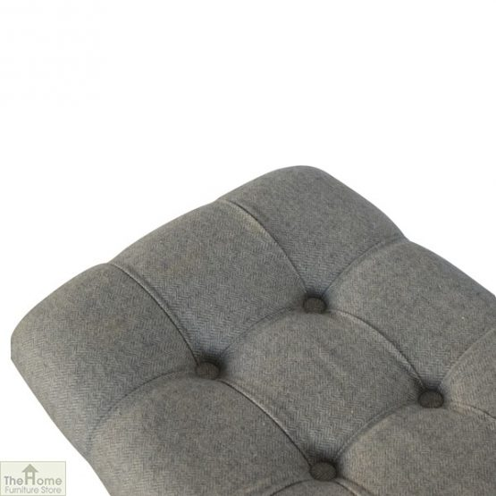 Curved Grey Tweed Bench_8