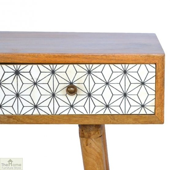 Geometric Print 3 Drawer Console Table_6