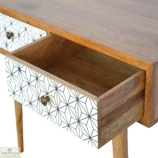 Geometric Print 3 Drawer Console Table_8