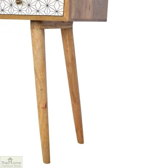 Geometric Print 3 Drawer Console Table_5