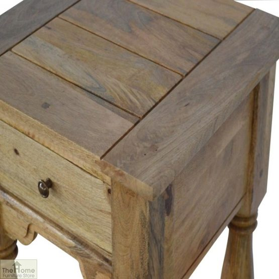 Country 1 Drawer End Table_4