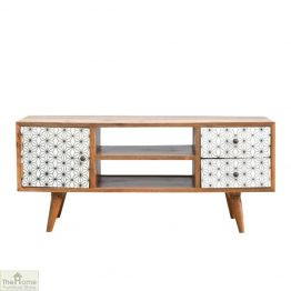 Geometric Print TV Unit