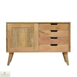 Winchester Natural Sliding 4 Drawer Cabinet